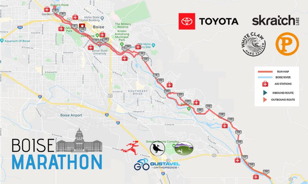 Boise Marathon - Full Marathon Map